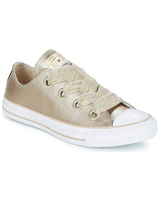 5700ccd15be8 Converse - Metallic Chuck Taylor All Star Big Eyelets Ox Women s Shoes  (trainers) In ...
