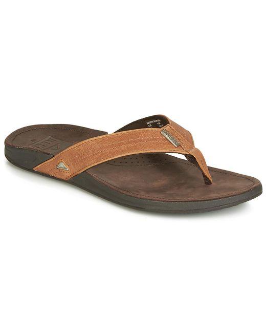 d7d897552 Reef - Brown J Bay Flip Flops   Sandals (shoes) for Men - Lyst ...