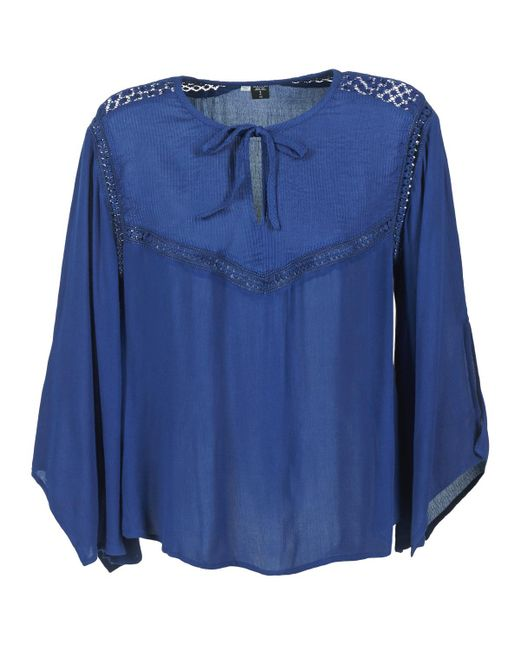 Volcom - Peaceasy Women's Blouse In Blue - Lyst