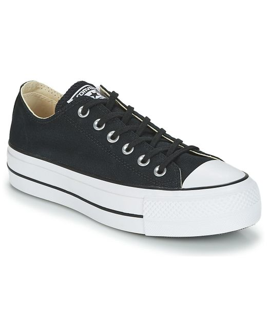 c751f5be193891 Converse - Black Chuck Taylor All Star Lift Clean Ox Core Canvas Shoes ( trainers) ...
