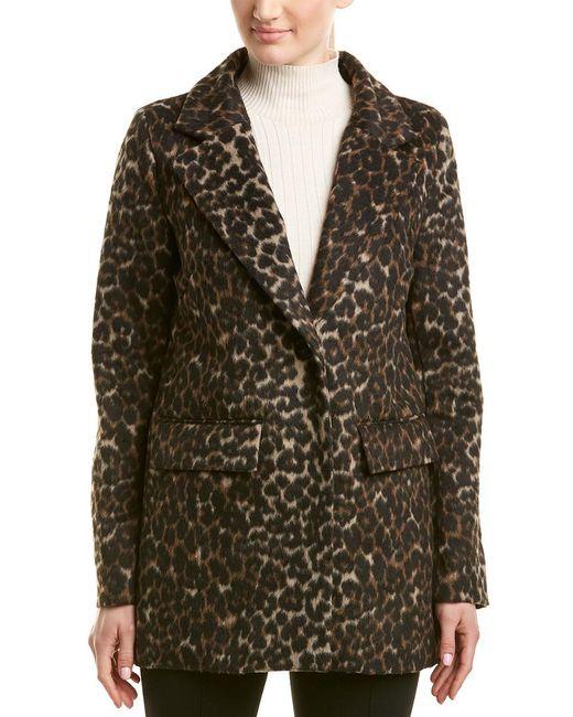 T Tahari - Brown Kendall Leopard Print Coat - Lyst