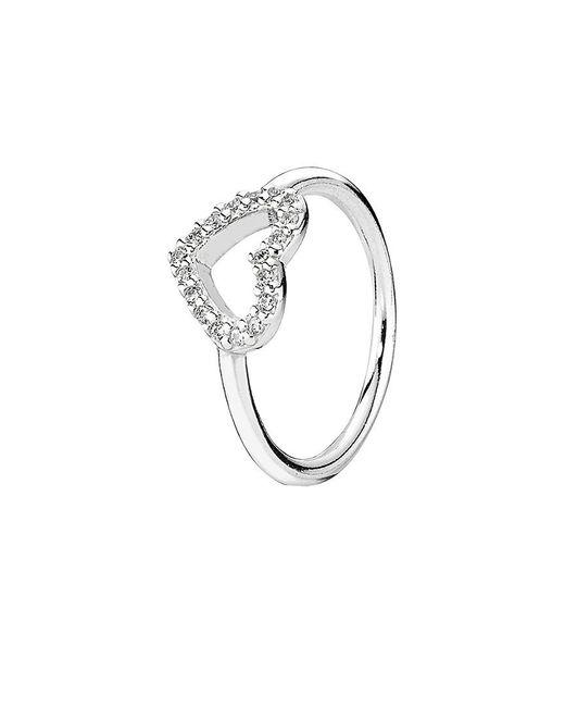 Pandora - Metallic Be My Valentine Silver Cz Ring - Lyst