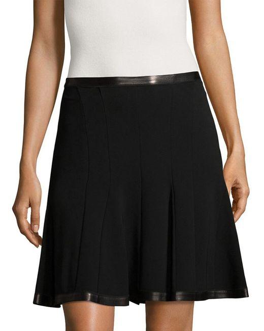 Roberto Cavalli - Black Seamed A-line Skirt - Lyst