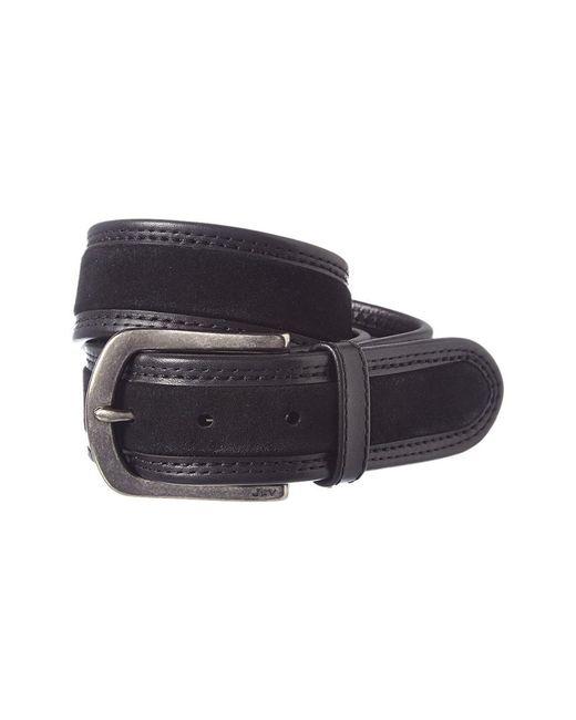 John Varvatos - Black Star U.s.a. Adjustable Leather Belt for Men - Lyst