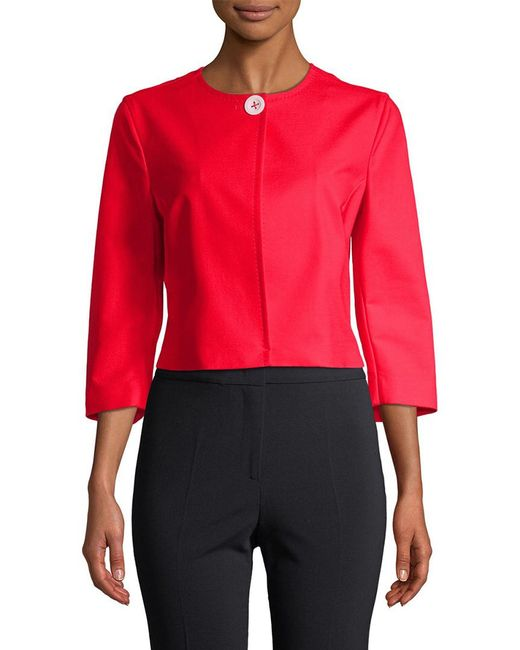 Piazza Sempione - Red Crop Jacket - Lyst