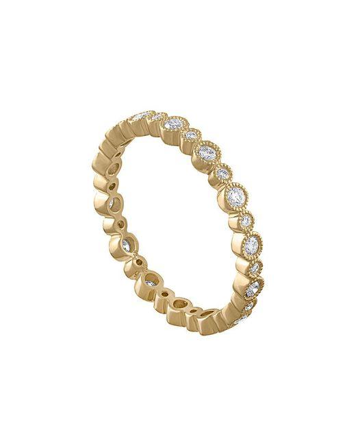 Diana M Metallic . Fine Jewelry 18k 0.36 Ct. Tw. Diamond Eternity Ring