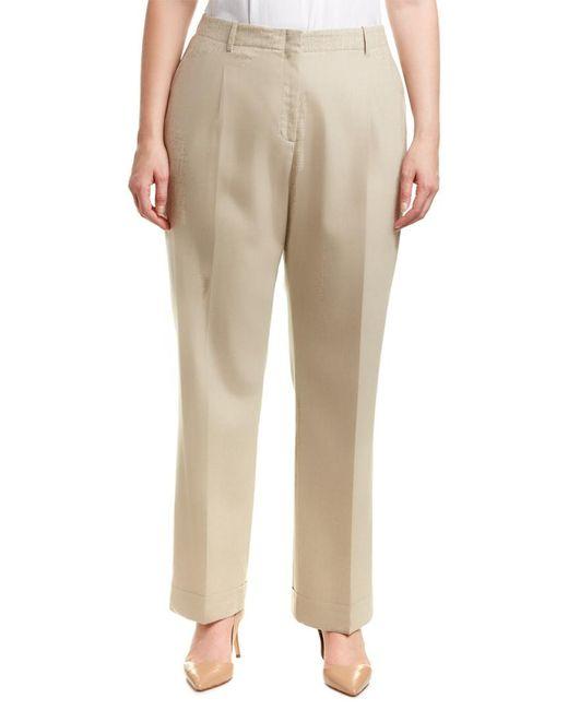 Lafayette 148 New York Brown Plus Harrison Wool-blend Pant