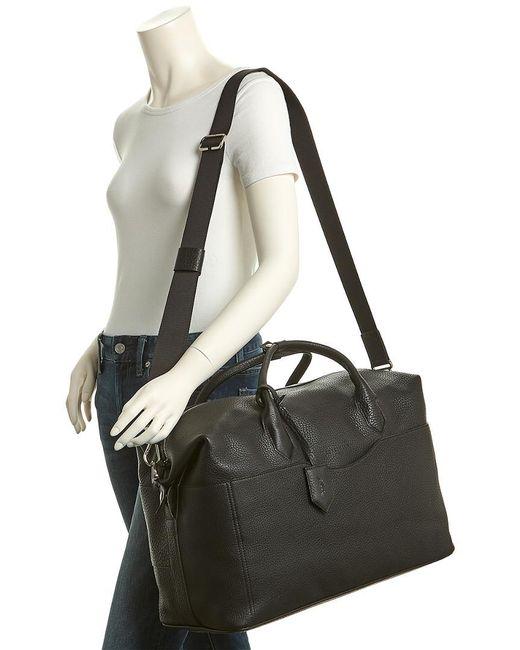 ... Longchamp - Black Ulysse Leather Travel Bag - Lyst 6c6481e532bdc