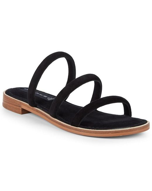 Steven by Steve Madden - Black Chacha Strappy Suede Slide - Lyst