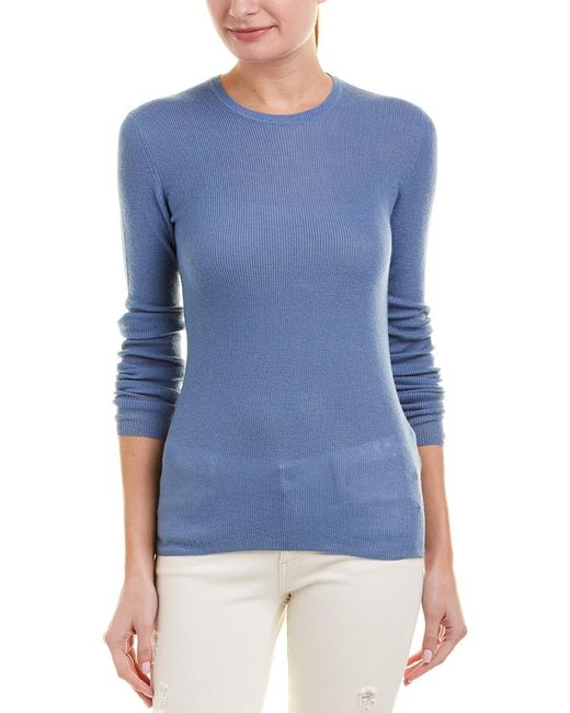 Vince - Blue Ribbed Cashmere Top - Lyst