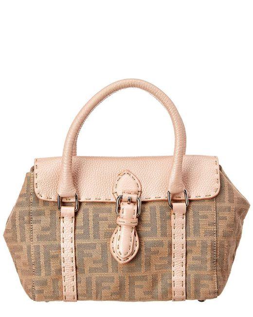 Lyst - Fendi Pink Zucca Canvas Linda Bag in Pink ea19c37115d7f