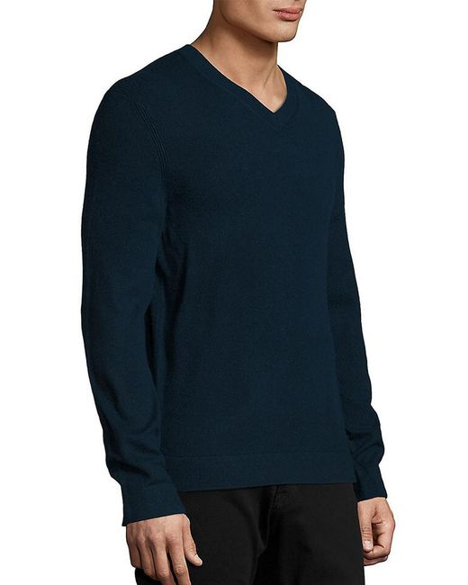 Theory - Blue V-neck Sweater for Men - Lyst