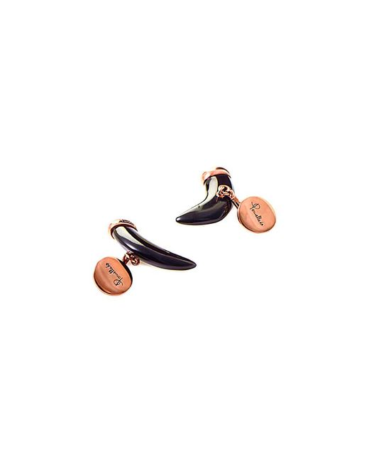 Pomellato - Multicolor Victoria Rose Gold & Black Jet Fang Cufflinks - Lyst