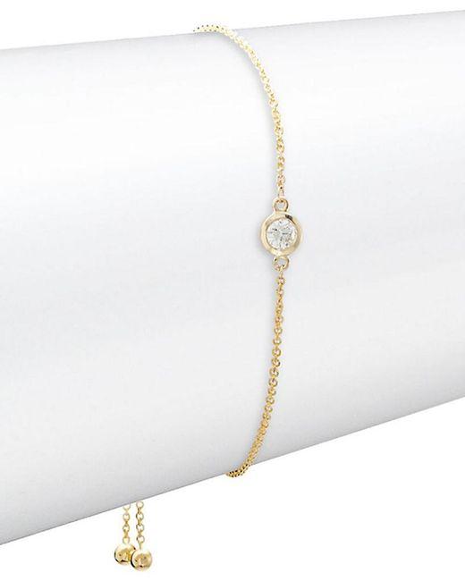 Effy - Metallic Fine Jewelry 14k & Diamond Bracelet - Lyst