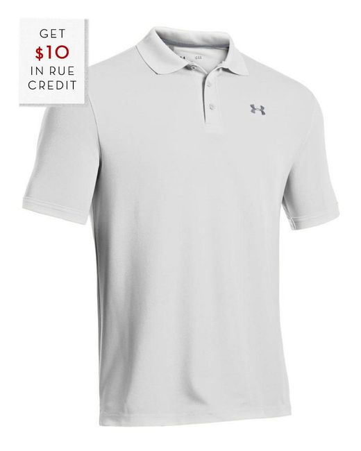 Under Armour - White Performance Golf Polo for Men - Lyst