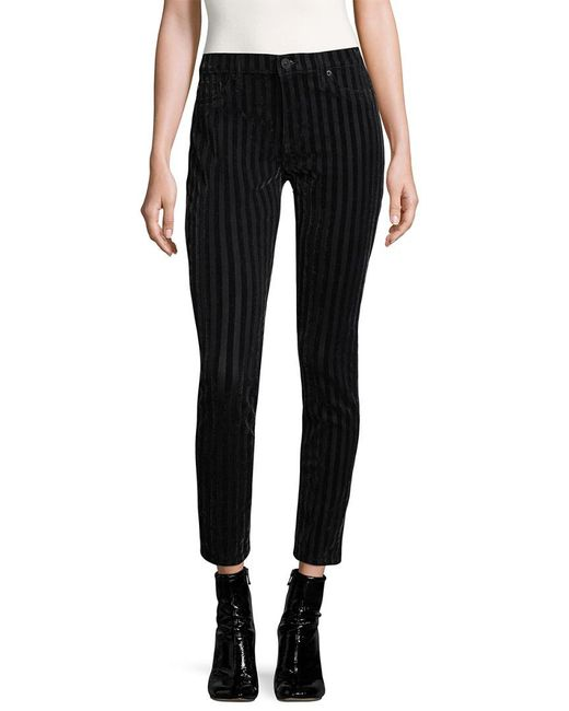 Hudson - Black Nico Striped Cotton Jeans - Lyst