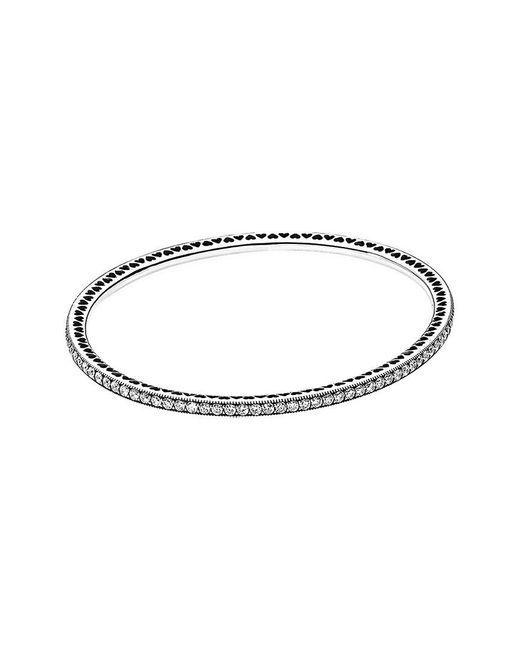 Pandora - Metallic Silver Cz Twinkling Forever Bracelet - Lyst
