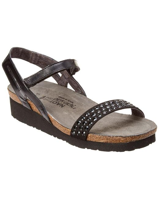 007562c07f9 Lyst - Naot Lexi Leather Sandal in Black - Save 55%