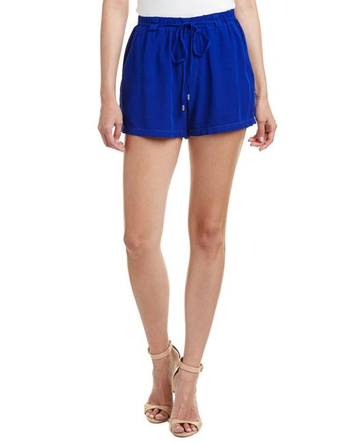 Splendid | Blue Tie-waist Short | Lyst