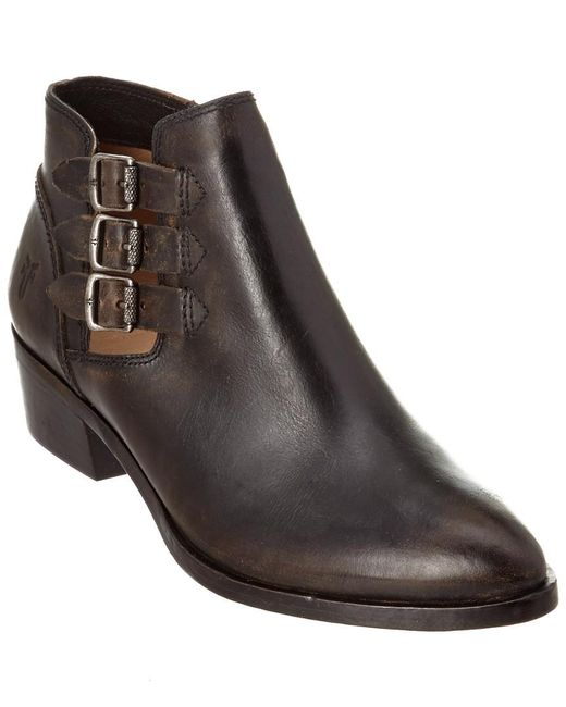 Frye | Black Women's Ray Belted Leather Bootie | Lyst