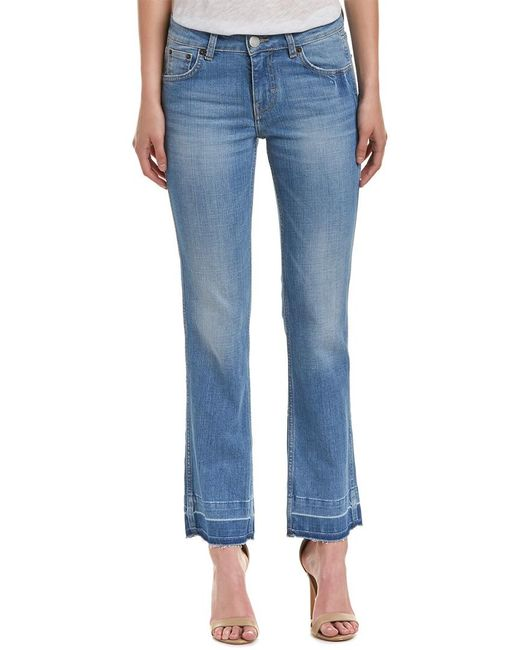 Maje - Blue Straight Short Denim Pant - Lyst