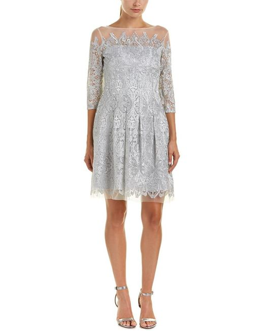 Kay Unger | Gray A-line Dress | Lyst