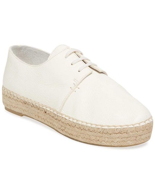 Vince - White Cynthia Lace-up Leather Espadrille - Lyst
