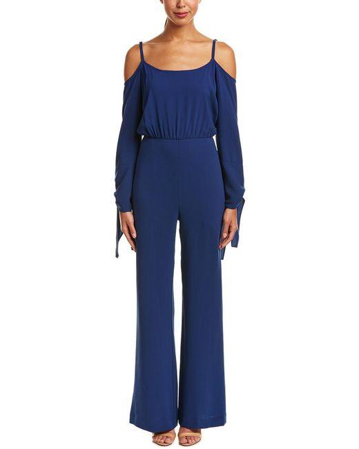 BCBGMAXAZRIA   Blue Off-the-shoulder Jumpsuit   Lyst