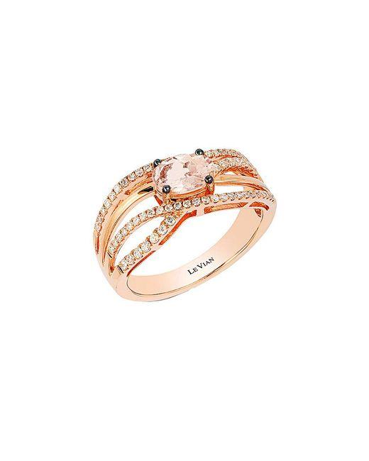 Le Vian - Metallic ? 14k Rose Gold 0.82 Ct. Tw. Diamond & Morganite Ring - Lyst