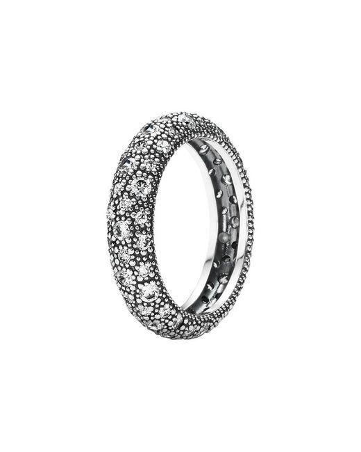 Pandora Metallic Cosmic Stars Silver Cz Ring