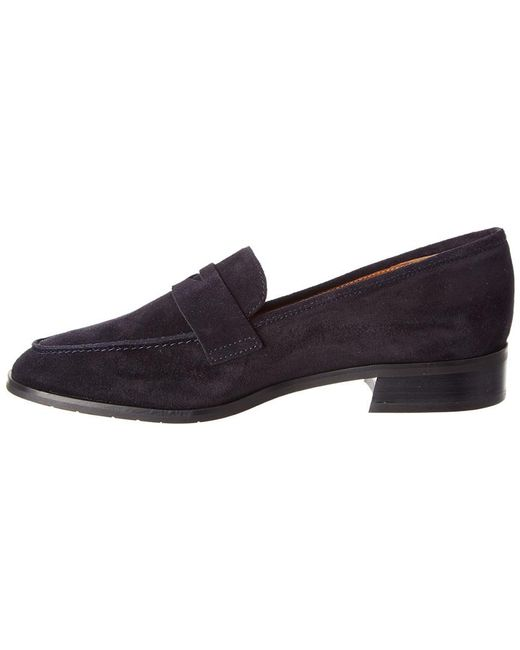 5eb13b80f0f Lyst - Aquatalia Sharon Waterproof Suede Loafer in Blue - Save 46%