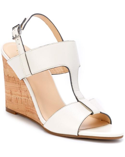 Cole Haan - Natural Adrienne Leather Wedge Sandal - Lyst