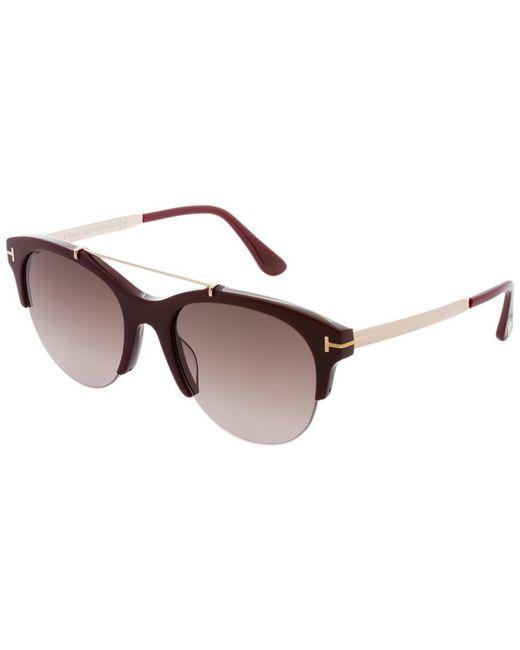 Tom Ford - Brown Adrenne 55mm Sunglasses - Lyst