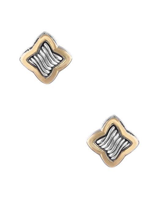 David Yurman - Metallic David Yurman Quatrefoil 18k & Silver Earrings - Lyst