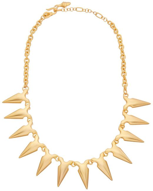 Kenneth Jay Lane - Metallic 22k Plated Spike Necklace - Lyst