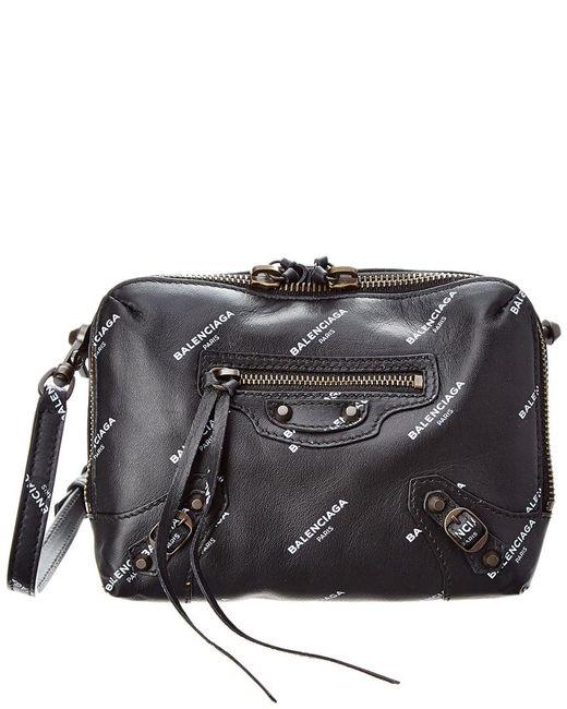 37c601b810ae Balenciaga - Black Classic Reporter Logo Xs Leather Crossbody - Lyst ...