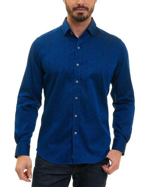 Robert Graham - Blue Christopher Tailored Fit Woven Shirt for Men - Lyst