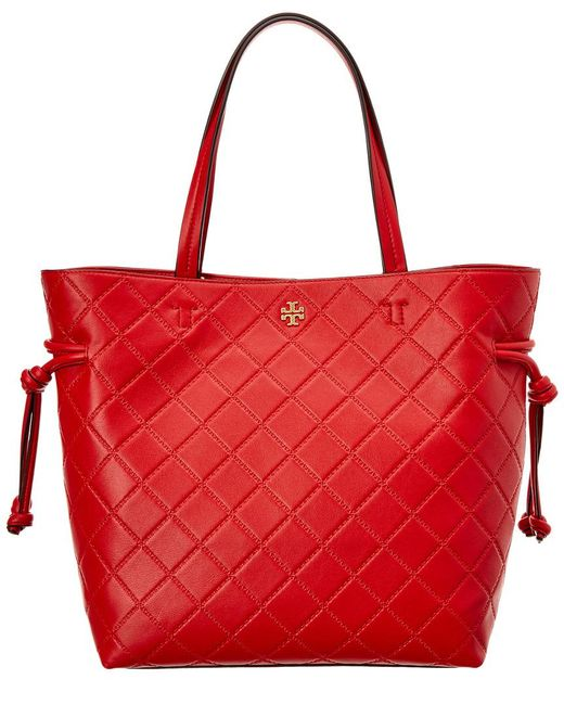 Tory Burch - Red Georgia Slouchy Leather Tote - Lyst
