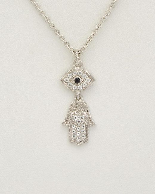 Judith Ripka - Metallic Silver 0.35 Ct. Tw. Gemstone Necklace - Lyst