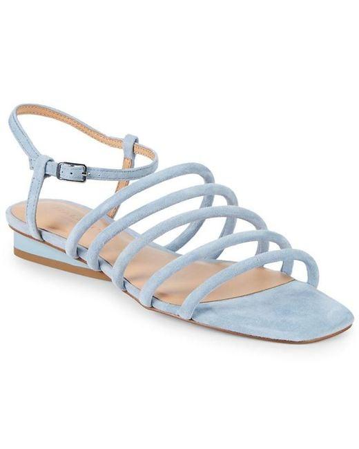 Halston Heritage - Blue Leandra Suede Sandals - Lyst