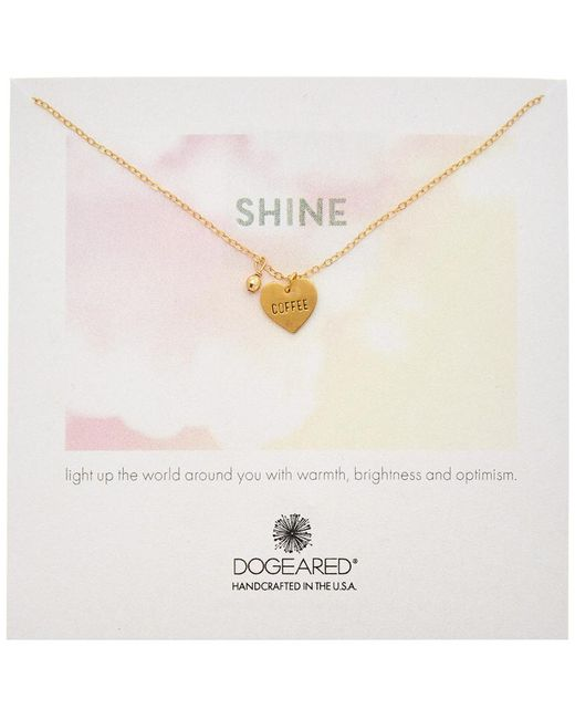 Dogeared - Metallic 14k Gold Over Silver In A Relationship Coffee Necklace - Lyst