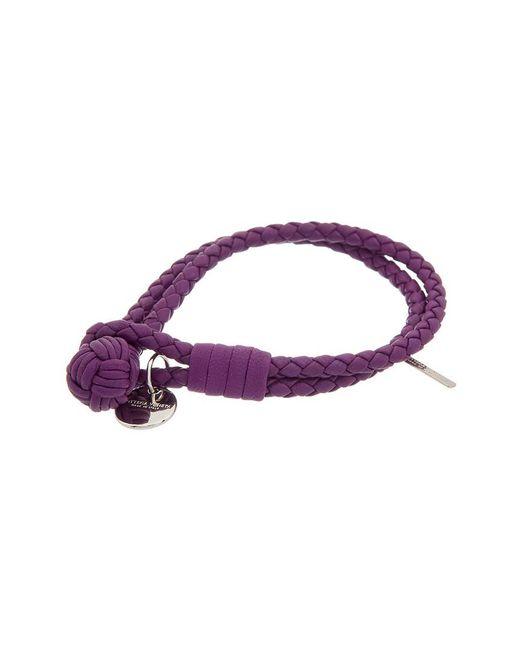Bottega Veneta - Purple Intrecciato Nappa Leather Bracelet - Lyst