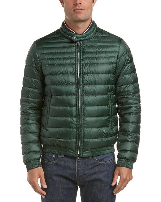 23d543ec8 Lyst - Moncler Garin Quilted Down Bomber Jacket in Green for Men