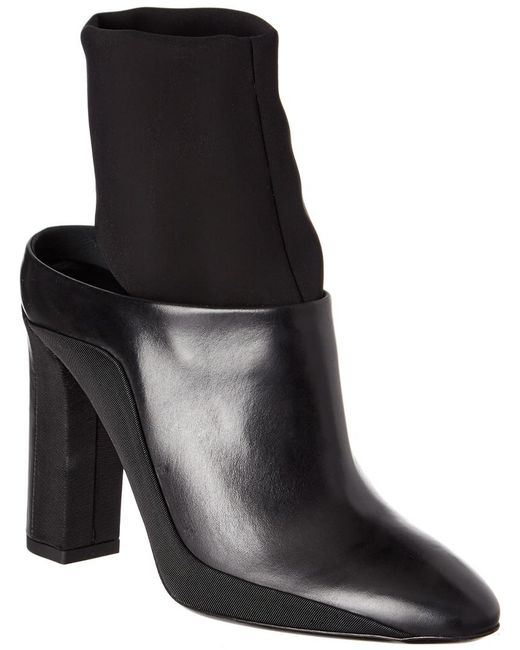 Via Spiga | Black Agyness Leather Bootie | Lyst