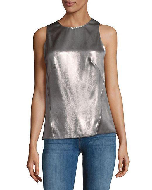 Narciso Rodriguez - Multicolor Metallic Silk Top - Lyst