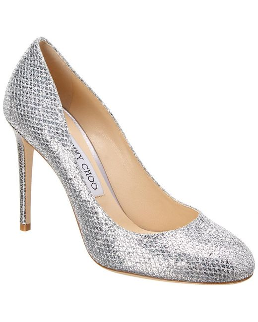 Jimmy Choo - Metallic Bridget 100 Glitter Fabric Round Toe Pump - Lyst