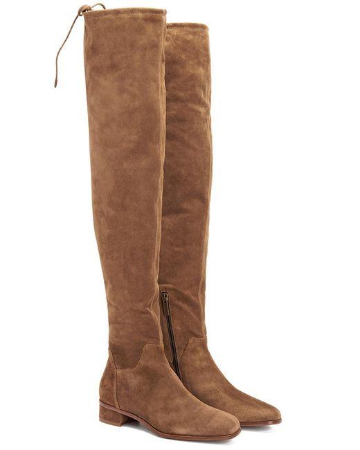 Aquatalia - Brown Lisandra Waterproof Suede Over-the-knee Boot - Lyst