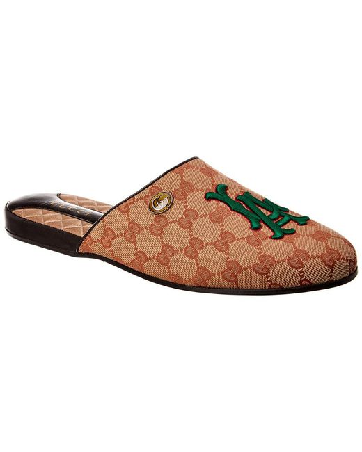 486895153eb Gucci - Brown La Dodgers Canvas Sandal for Men - Lyst ...