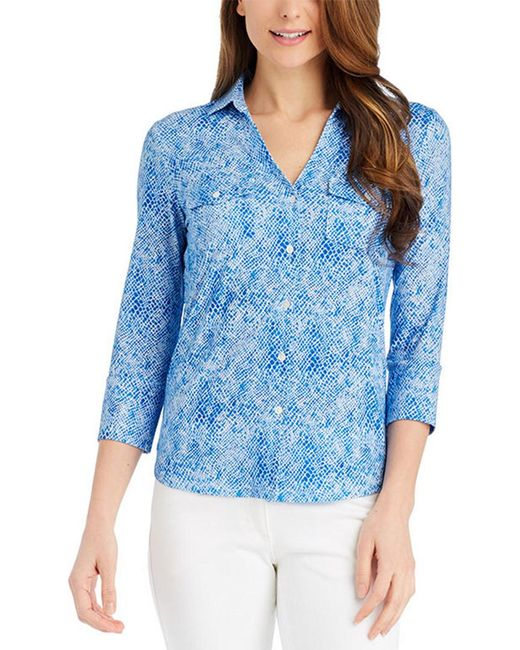 J.McLaughlin - Blue Top - Lyst