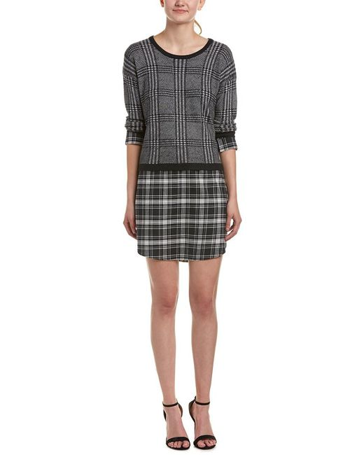 Soft Joie - Black Dinay Wool-blend Sweaterdress - Lyst